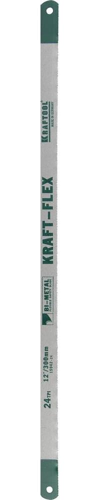 "Полотно ""KRAFT-FLEX"" по металлу, KRAFTOOL 15942-24-S50, Bi-Metal, 24TPI, 300 мм, 50 шт"