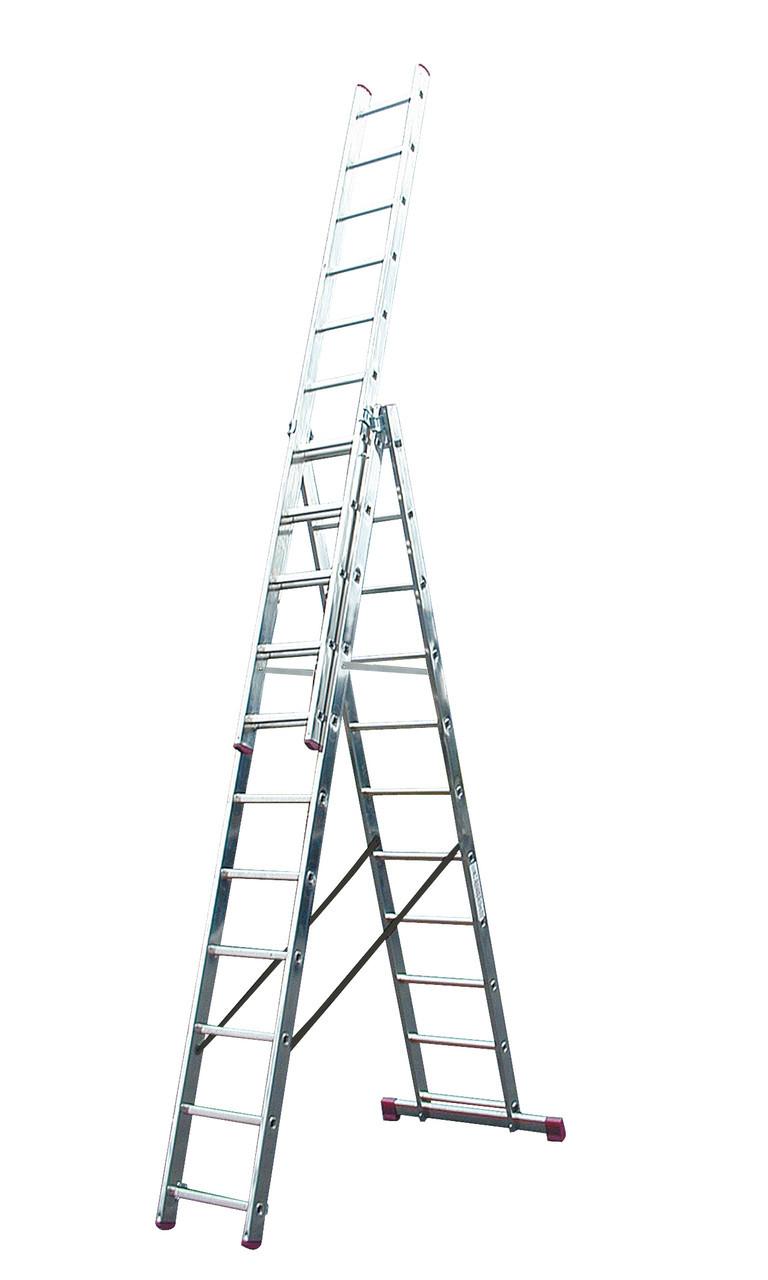 Трехсекционная универсальная лестница CORDA 3х12