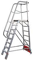 Лестница с платформой VARIO Kompakt, траверса 1365 8 ступ.