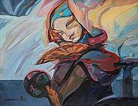 Картина «Девочка с веером»