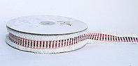Декоративная лента для одежды с бахромой, красно-розовая