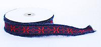 Декоративная лента для одежды с бахромой, красно-синяя