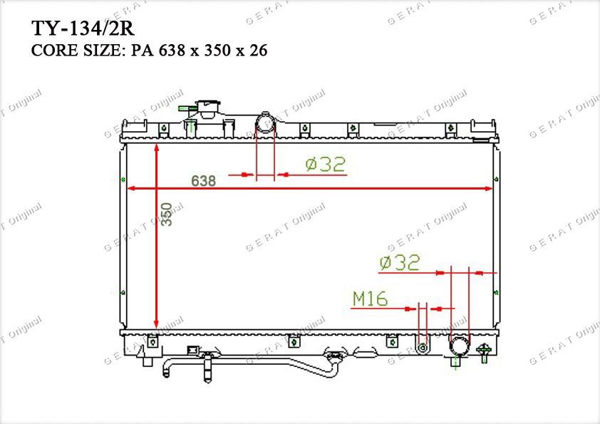 Радиатор основной 164007A060