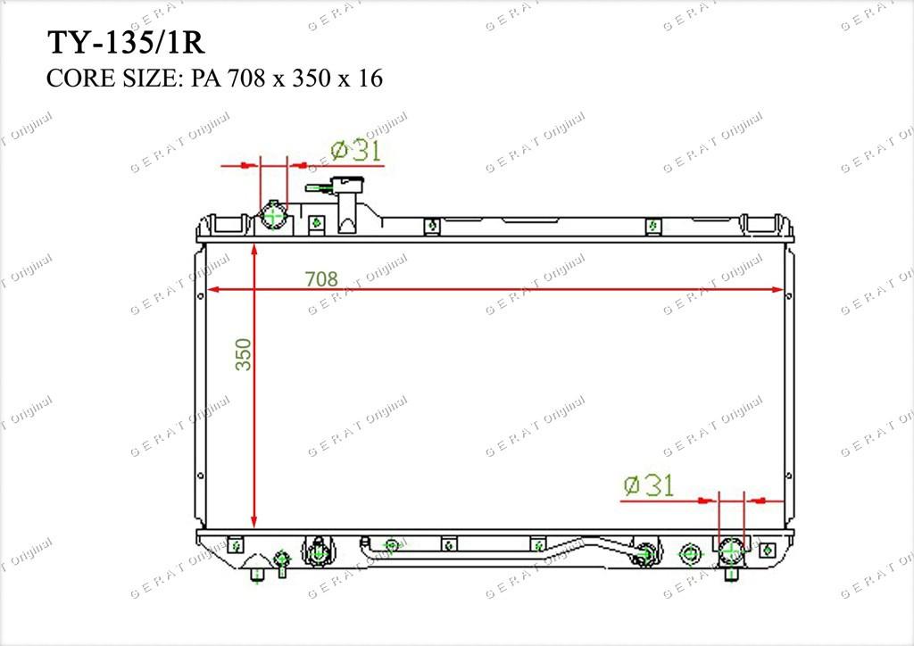 Радиатор основной 164007A120