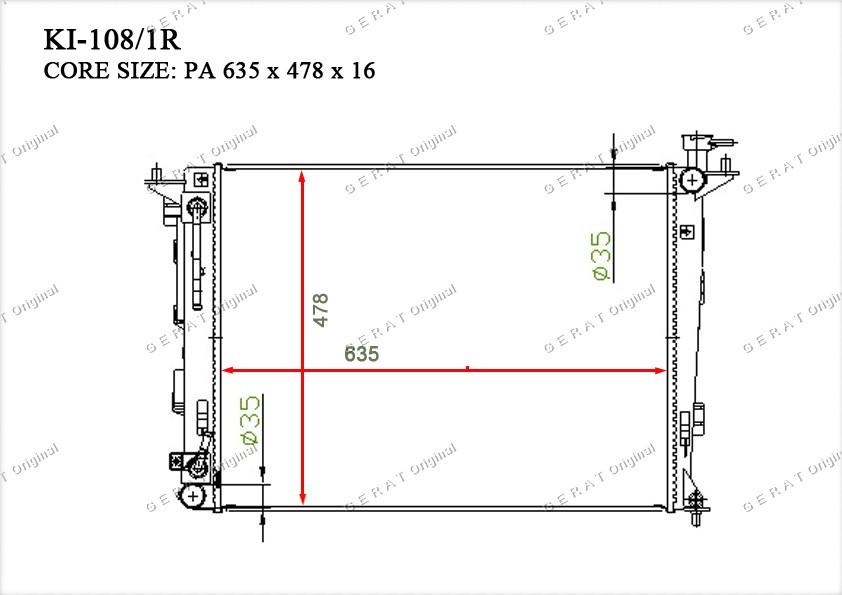 Радиатор основной 253102S550