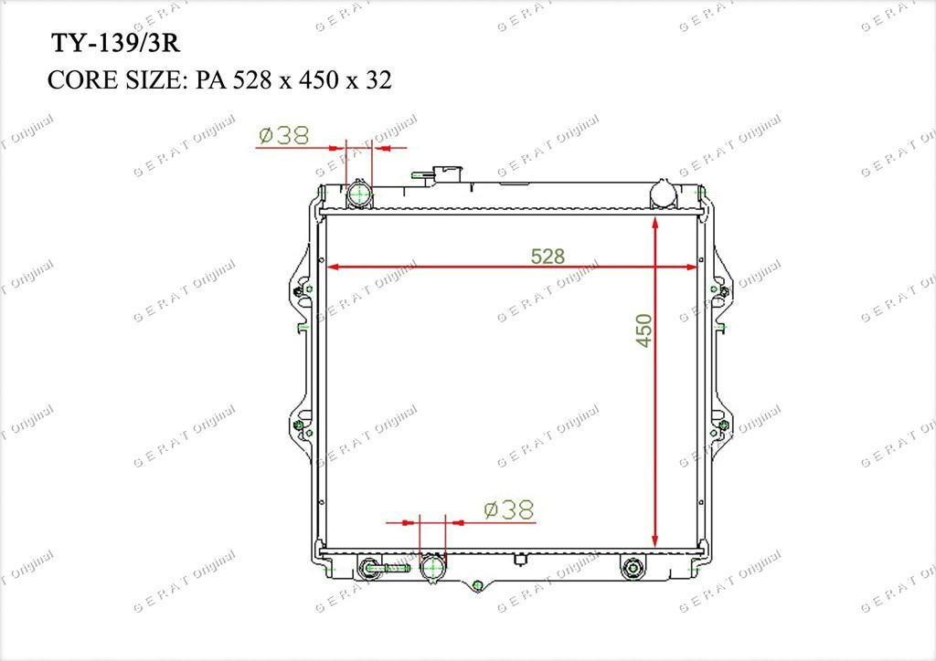 Радиатор основной 164005B610