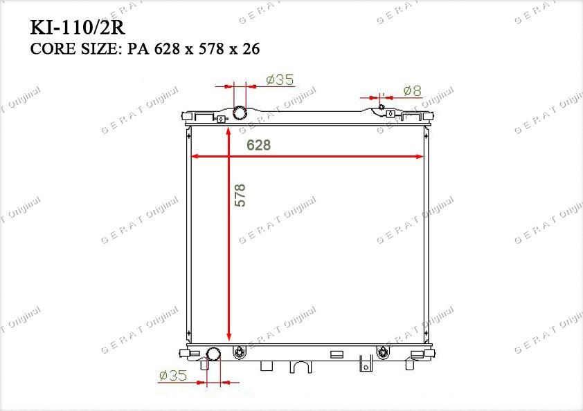 Радиатор основной 253103E250