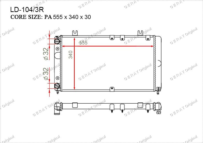 Радиатор основной 11181301012