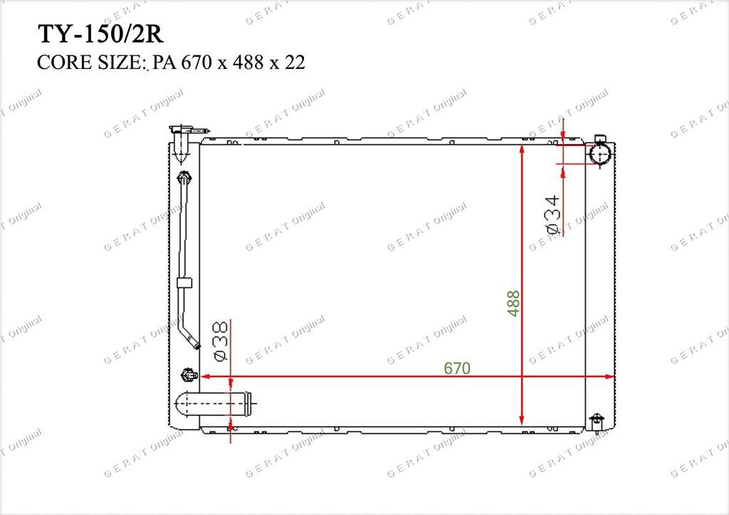 Радиатор основной 16041-0A413