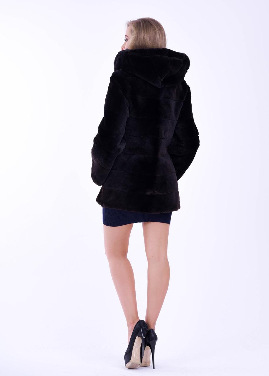 Короткая женская шуба автоледи из бобра, натуральный мех - фото 3
