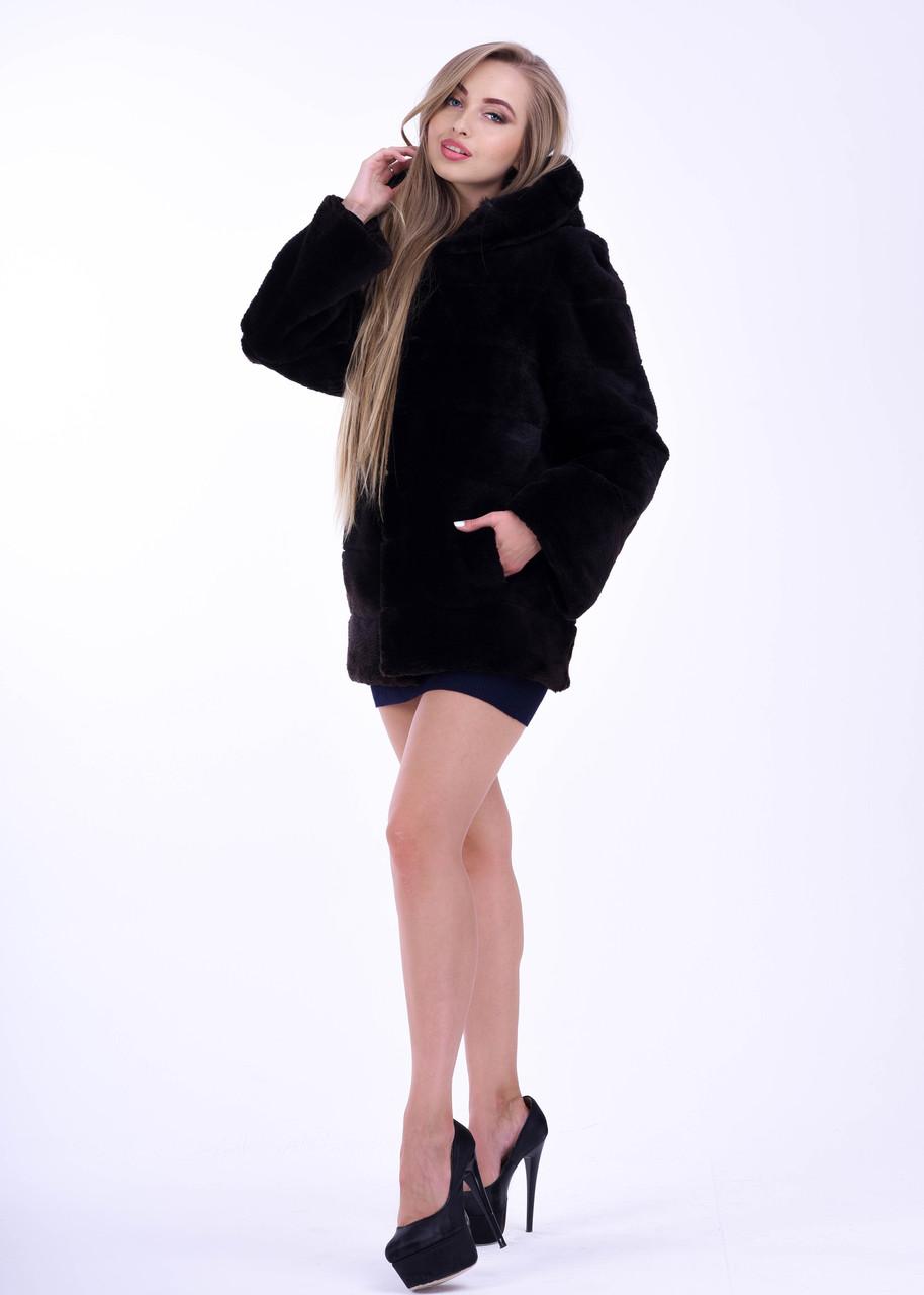 Короткая женская шуба автоледи из бобра, натуральный мех - фото 5