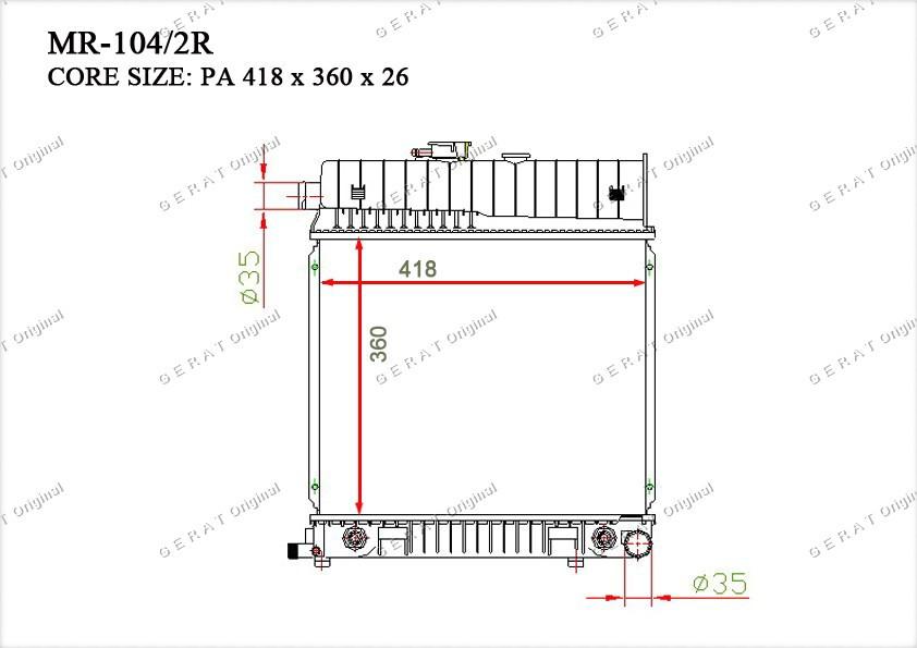 Радиатор основной TCR-0020/3R