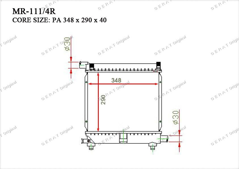 Радиатор основной 1245008303