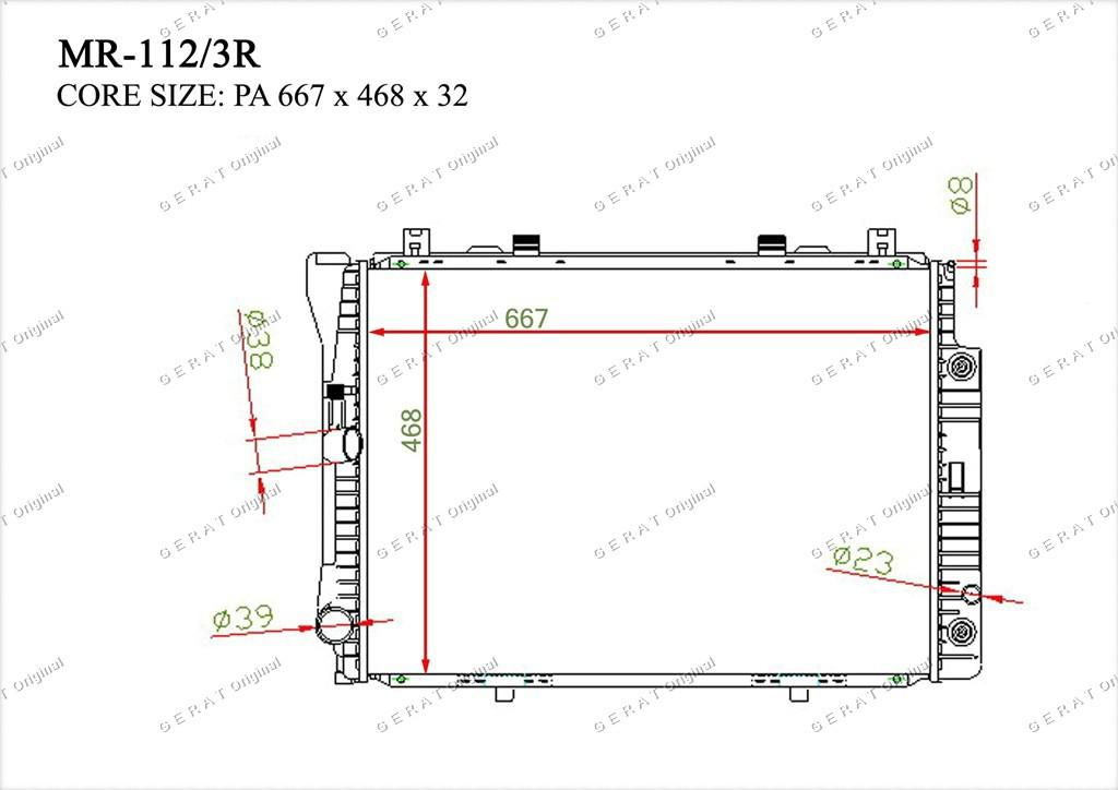 Радиатор основной TCR-0022/2R