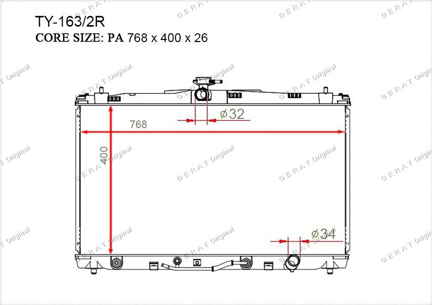 Радиатор основной 164000V110