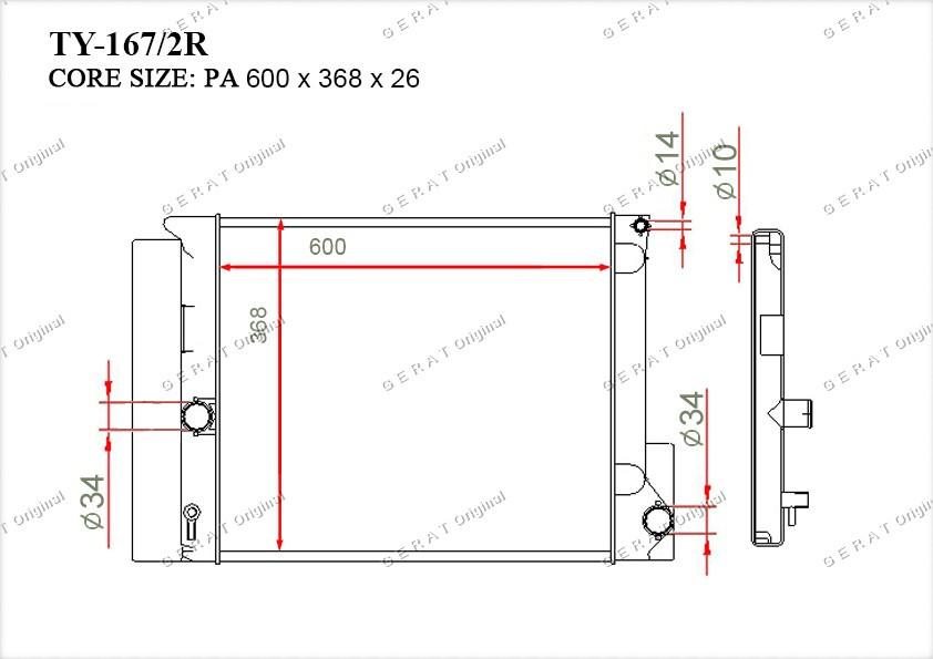Радиатор основной 164000D400