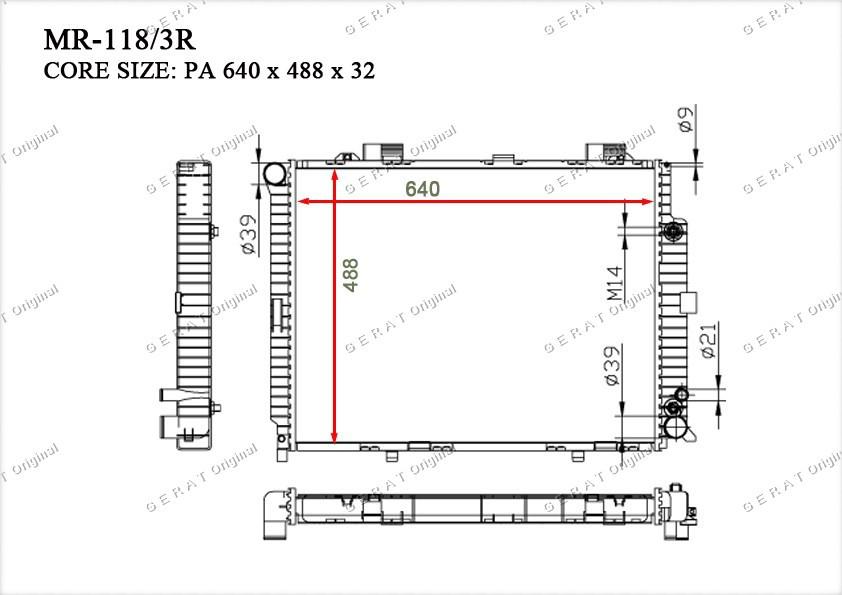 Радиатор основной TCR-0021/3R