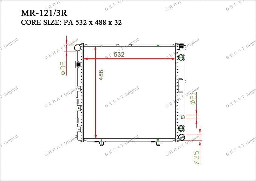 Радиатор основной 1245009303