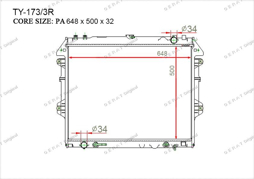 Радиатор основной 164000C210