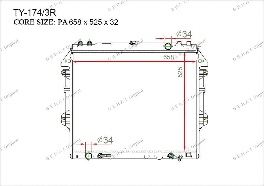Радиатор основной 164000P040