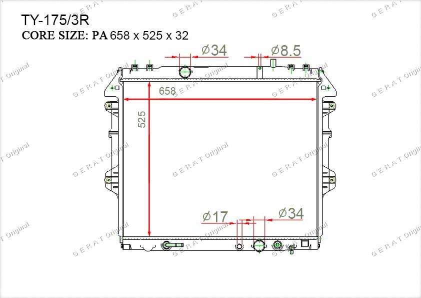 Радиатор основной 164000L120