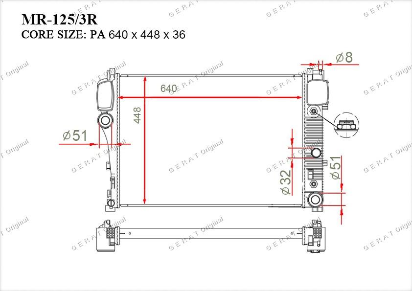 Радиатор основной 2215002603