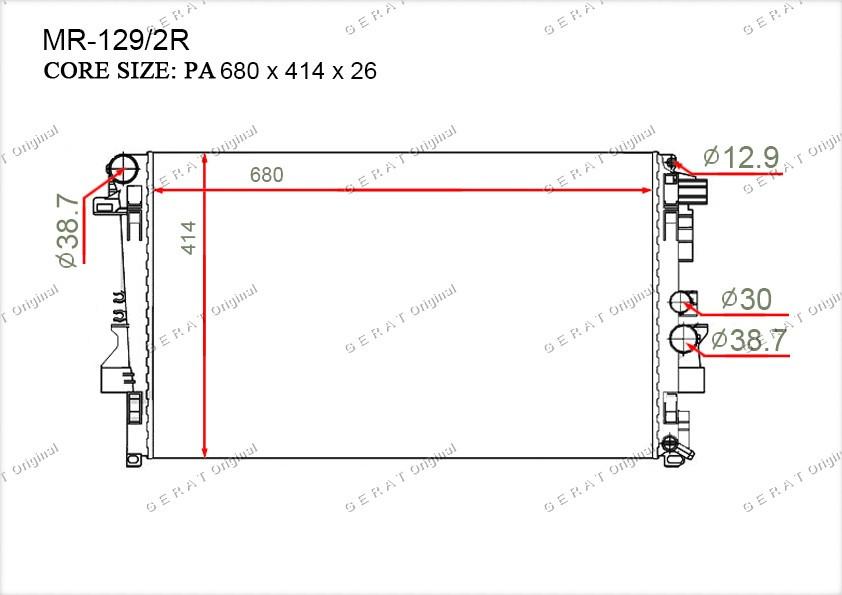 Радиатор основной 6395010401
