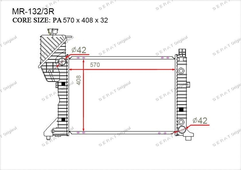 Радиатор основной 9015001800