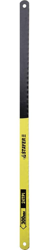 "Полотно STAYER ""STANDARD"" для ножовки по металлу, 24TPI(1мм), 300мм, 2шт"