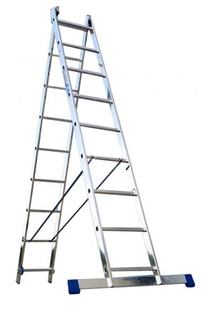 Лестница алюминиевая 2-х секц.9 ступ