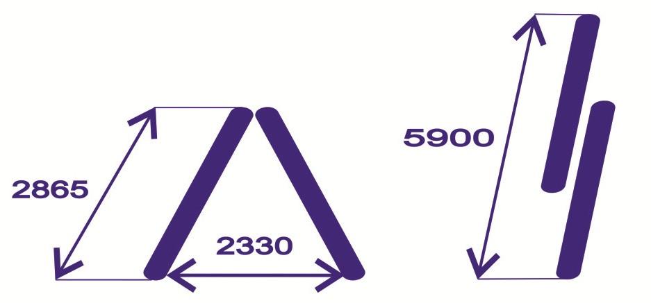 Лестница алюминиевая 2-х секц.12 ступ