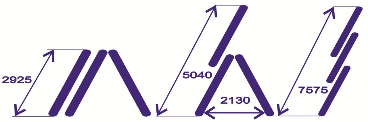 Лестница алюминиевая 3-х секц.11 ступ