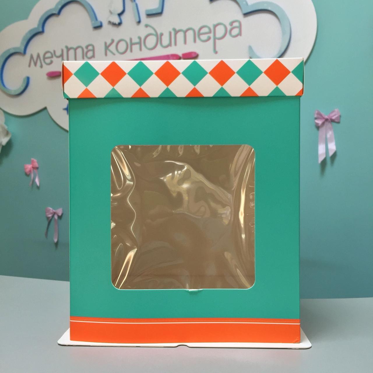 Коробка для десертов зеленая
