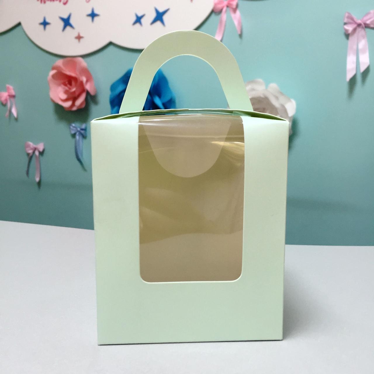 Коробка для десертов мятная