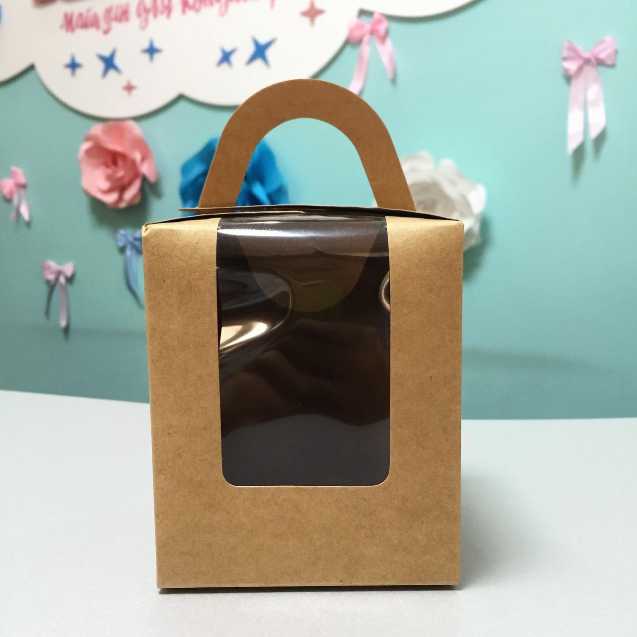 Коробка для десертов коричневая