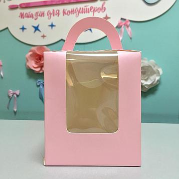 Упаковка для десертов розовая