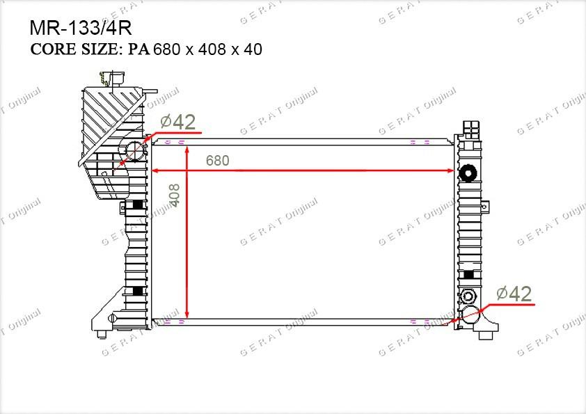 Радиатор основной 9015003400