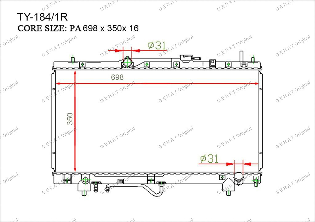 Радиатор основной TCR-0038/2R