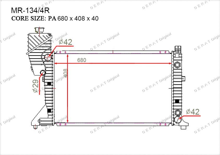 Радиатор основной 5104117AA