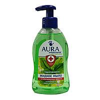 Жидкое мыло AURA с антибактериальным эффектом  Подорожник 300 мл.