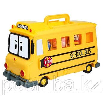Robocar POLI Кейс-гараж школьный автобус Скулби