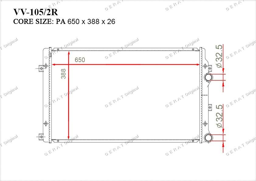 Радиатор основной 1K0121251AT