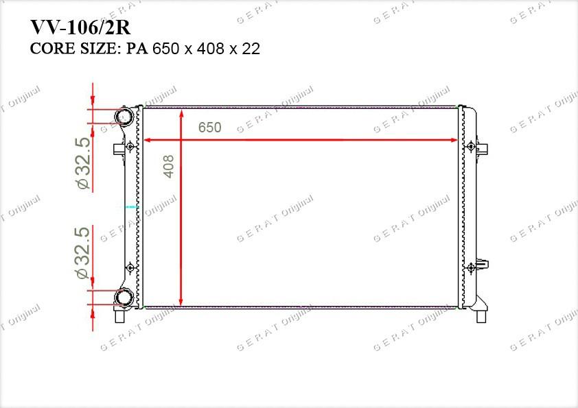 Радиатор основной 1K0121251AR