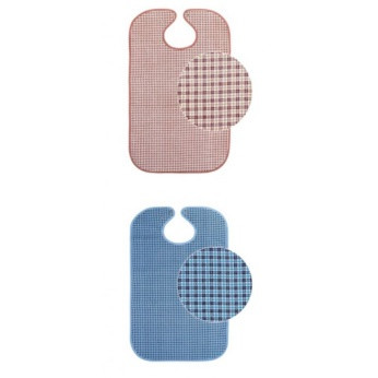Нагрудник для взрослых с кнопками коричневый/Color bib clips brown