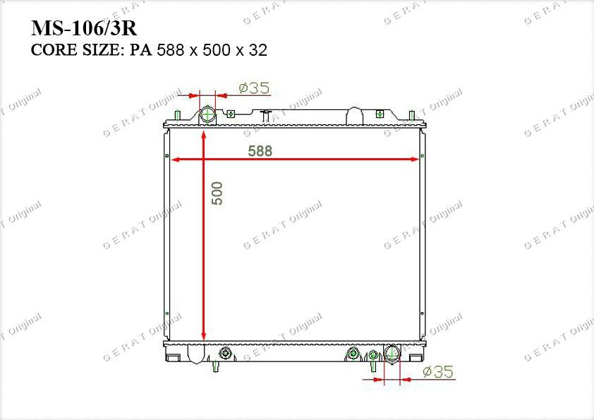 Радиатор основной MR126103