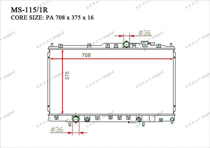 Радиатор основной TCR-0024/2R