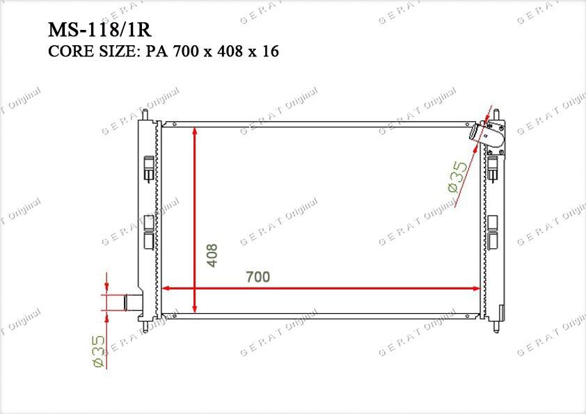Радиатор основной 1350A297