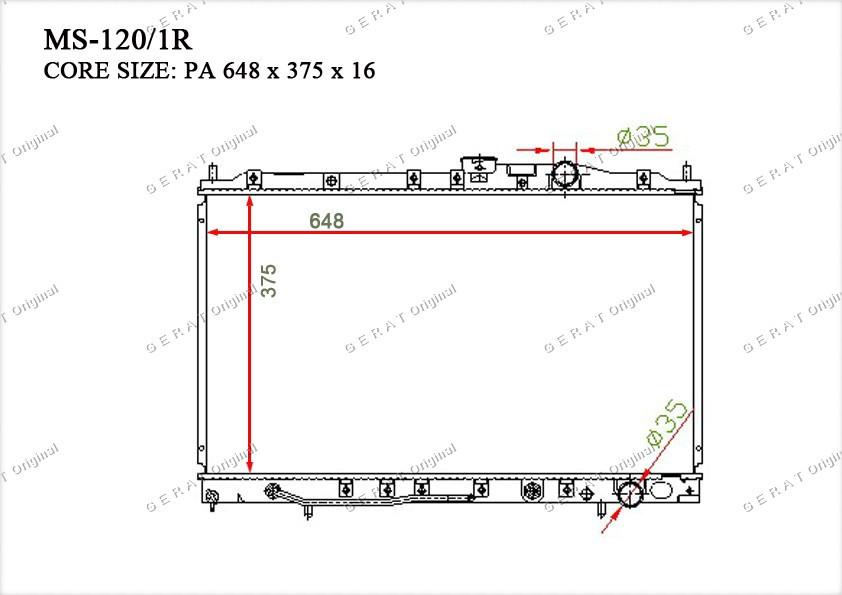 Радиатор основной MB845797