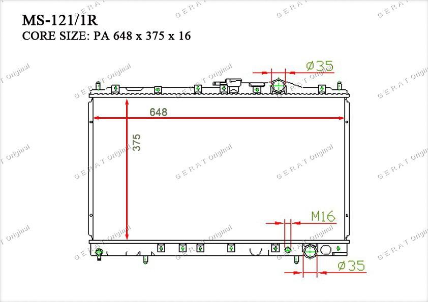 Радиатор основной TCR-0026/2R