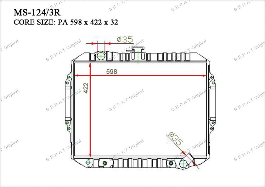 Радиатор основной MB422130
